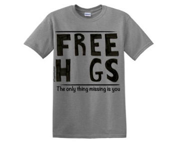 T-Shirt- Free Hugs - Swift Kick