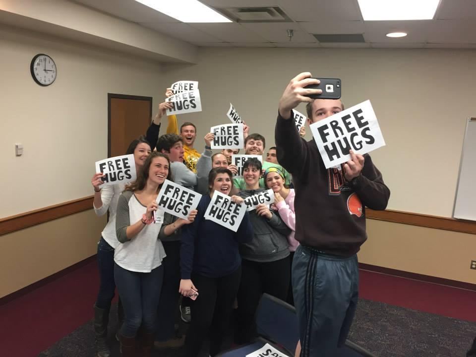 The #freehugs selfies were real