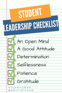 student-leadership-checklist