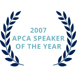 2007 APCA Speaker of the Year