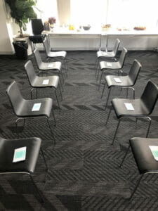 icebreakers chair set up