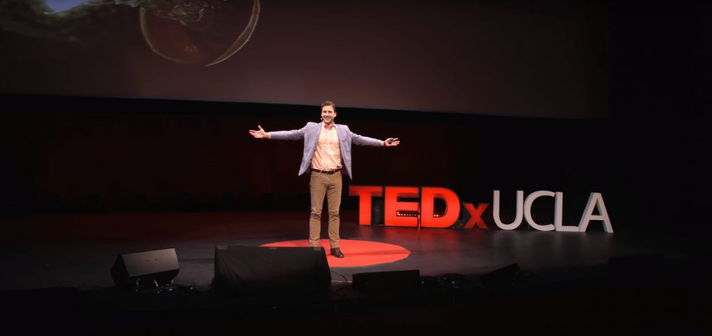 Tom performing at TEDx UCLA