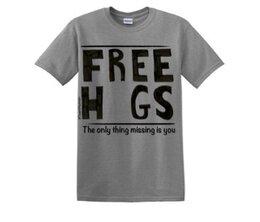 Free Hugs T-shirts on Swift Kick